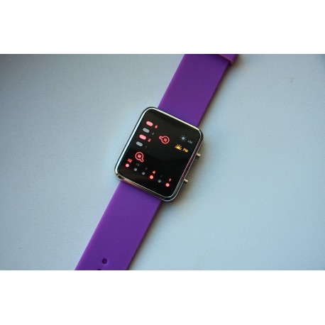 Led laikrodis violetinis