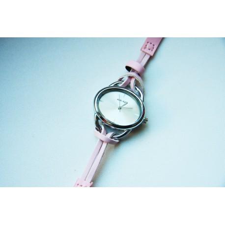 Moteriškas laikrodis Julius su rožine apyranke