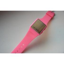Minimalistinio dizaino led laikrodis [Rožinis]