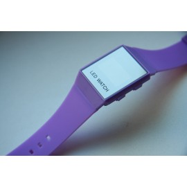 Minimalistinio dizaino led laikrodis [Violetinis]