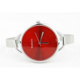 Moteriškas laikrodis WoMaGe raudonu ciferblatu