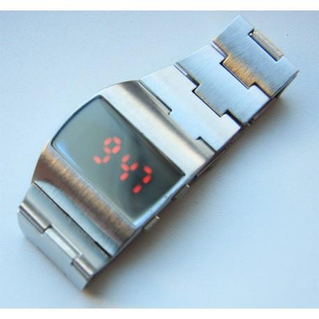 Vyriškas metalinis led laikrodis