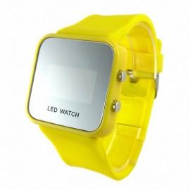 Led laikrodis (geltonas)
