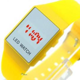 Minimalistinio dizaino led laikrodis [Geltonas]
