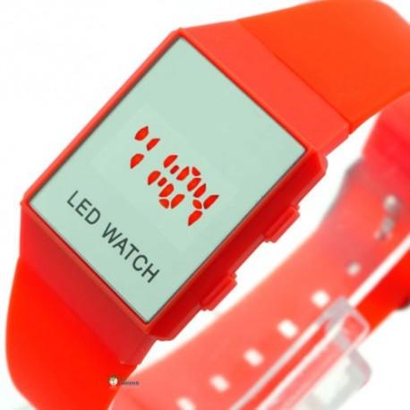Minimalistinio dizaino led laikrodis [Raudonas]
