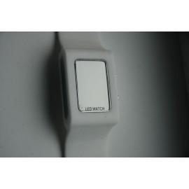 Led laikrodis baltas