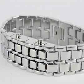 Led laikrodis metalinė apyrankė
