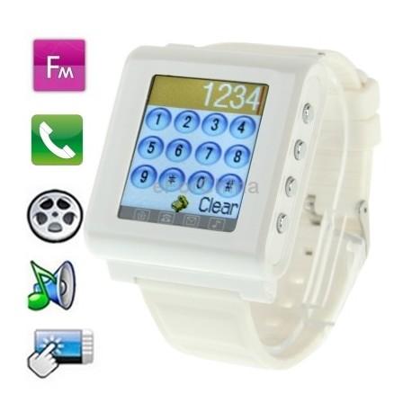 Rankinis laikrodis - mobilusis telefonas [Baltas]