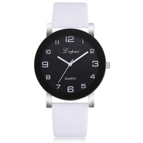 moteriškas laikrodis balta apyranke